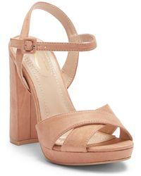 Elegant Footwear - Dollie Platform Ankle Strap Sandal - Lyst