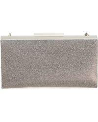 Glint - 'topper' Glitter Clutch - Metallic - Lyst