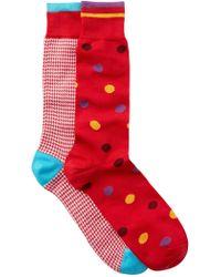 Lorenzo Uomo - Assorted Dress Socks - Pack Of 2 - Lyst