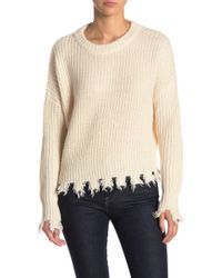 FAVLUX - Distressed Detail Sweater - Lyst