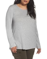 Caslon - Long Sleeve Crewneck Tee (plus Size) - Lyst