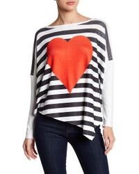 Go Couture - Asymmetrical Hem Dolman Sweater - Lyst