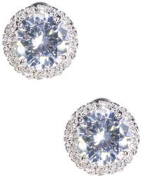 CZ by Kenneth Jay Lane - Halo Cz Stud Earrings - Lyst