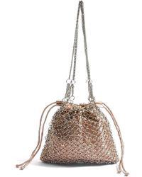 TOPSHOP - Cage Drawstring Shoulder Bag - Lyst