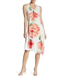 Komarov - Asymmetrical Hem Print Dress - Lyst