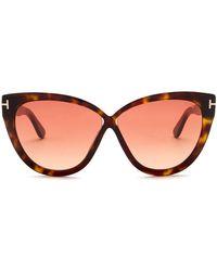 Tom Ford - Arabella 59mm Cat Eye Sunglasses - Lyst