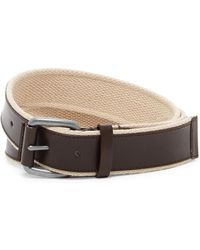 Cole Haan - Leather & Webbing Belt - Lyst