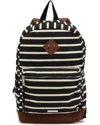 94990d4d5a870f Madden Girl - Large Canvas School Backpack - Lyst