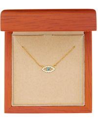Argento Vivo - 18k Gold Plated Sterling Silver Single Evil Eye Necklace - Lyst