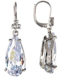 Marchesa - Cz Pear Drop Earrings - Lyst