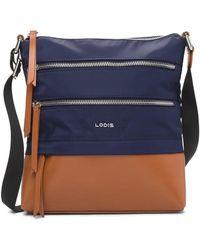 Lodis - Kate Leather Trimmed Nylon Rfid Wanda Crossbody Bag - Lyst