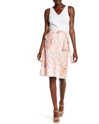 Basler - Bow Front Printed Skirt - Lyst