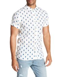Scotch & Soda | Printed Short Sleeve Linen Regular Fit Shirt | Lyst