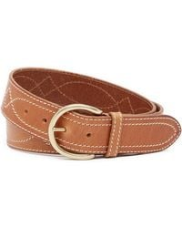 Frye - Campus Stitching Leather Belt - Lyst