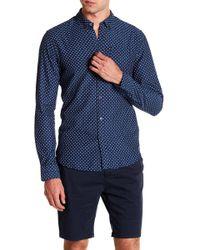 Scotch & Soda - Slim Fit Printed Long Sleeve Shirt - Lyst