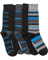 Steve Madden - Bold Stripes Crew Socks Box Set - Pack Of 5 - Lyst