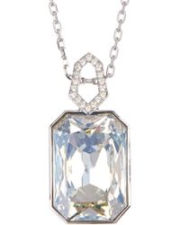 Swarovski - Evanescent Faceted Crystal Accented Pendant Necklace - Lyst