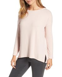 Gibson - Ballet Neck High/low Pullover - Lyst
