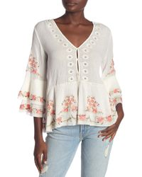 1774edef806f4 Joie - Kamile Embroidered Blouse - Lyst