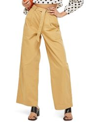 TOPSHOP - Wonder Wide Chino Trousers - Lyst