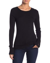 360cashmere - Eve Long Sleeve Solid Tee - Lyst