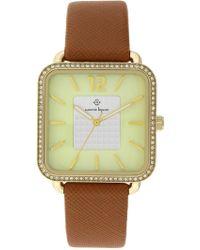 Nanette Nanette Lepore - Women's Quartz Faux Leather Strap Watch, 42mm - Lyst
