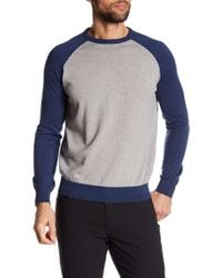 Tocco Toscano | Long Raglan Sleeve Colorblock Crew Neck Sweatshirt | Lyst