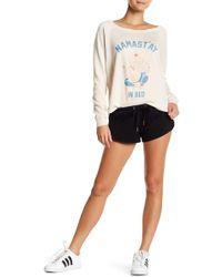 The Laundry Room - Cozy Drawstring Dolphin Shorts - Lyst