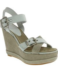 Blackstone - Two-tone Wedge Sandal - Lyst