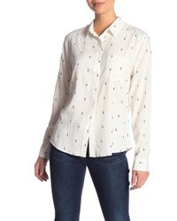 Kensie - Kiss Print Shirt - Lyst