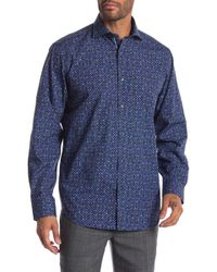 Bugatchi - Abstract Print Woven Classic Fit Shirt - Lyst