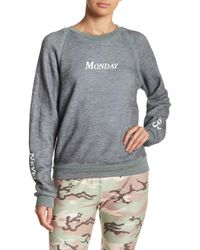 Wildfox - Never Say Monday Sweatshirt - Lyst