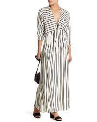 Amuse Society - Sunset Row Tie Front Shirred Maxi Dress - Lyst