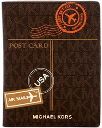 MICHAEL Michael Kors - Air Mail Leather Passport Wallet - Lyst