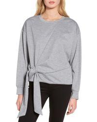 Trouvé - Tie Front Sweatshirt - Lyst