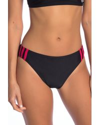 adidas - Side Stripe Sport Hipster Bikini Bottoms - Lyst