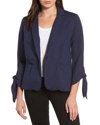 Halogen - (r) Tie Sleeve Knit Jacket (regular & Petite) - Lyst
