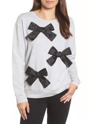 Halogen | (r) Bow Detail Sweatshirt (regular & Petite) | Lyst