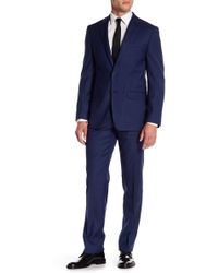 CALVIN KLEIN 205W39NYC - Mabry Navy Woven Two Button Notch Lapel Wool Suit - Lyst
