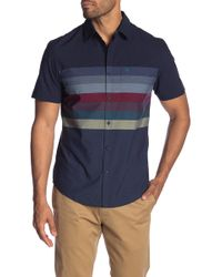 Original Penguin - Engineered Horizontal Stripe Short Sleeve Heritage Slim Fit Shirt - Lyst