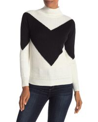 Love By Design - V-placement Mock Neck Sweater - Lyst