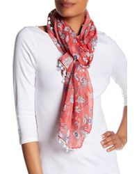 Roffe Accessories | Floral Pompom Scarf | Lyst