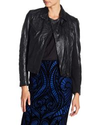 Muubaa - Canes Crinkled Leather Biker Jacket - Lyst