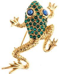 Oscar de la Renta - Pave Frog Brooch - Lyst