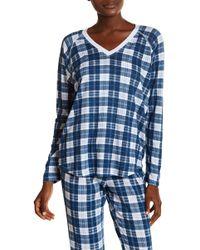 Love+Grace - Plaid Long Sleeve Pajama Top - Lyst