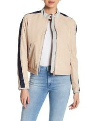 DIESEL | L-gin Colorblock Leather Jacket | Lyst