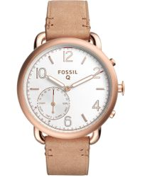 Fossil - Women's Q Tailor Hybrid Smart Leather Strap Watch, 40mm - Lyst
