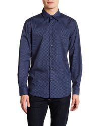Perry Ellis - Pin Dot Slim Fit Long Sleeve Woven Shirt - Lyst