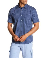 Benson - Seahorse Print Short Sleeve Modern Fit Shirt - Lyst