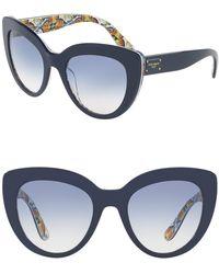 Dolce & Gabbana - 53mm Cat Eye Sunglasses - Lyst